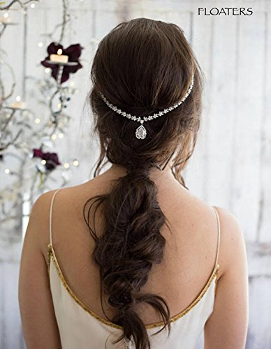 Bridal Headpiece Head Chain, Crystal Headband, Goddess Hair Chain, Wedding Hair Accessories, Designer Jewelry