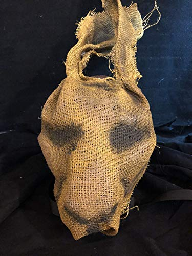 Creepy Burlap Bunny Rabbit Mask - Handmade Horror Props & Adult Halloween Masks - Killer Animal Masquerade Masks - Party Animals Masks