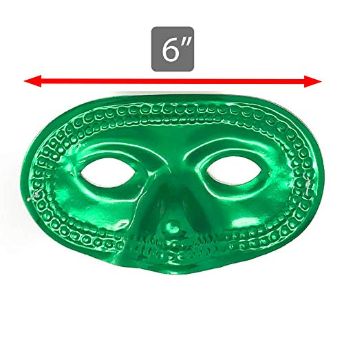 50 Piece Mardi Gras Masks - Metallic Masquerade Half Party Masks - Bulk