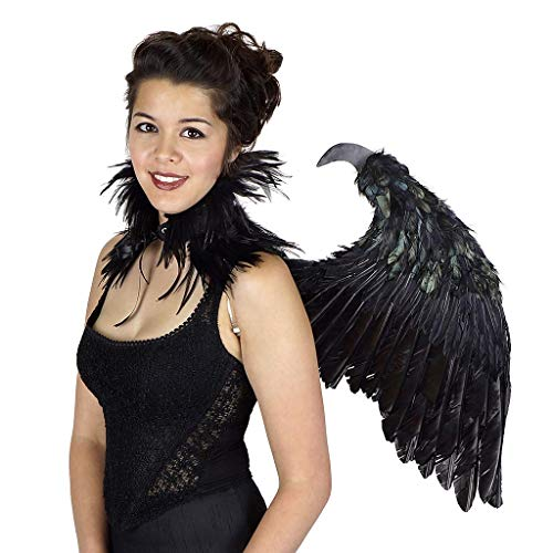 Magnificent Maleficent Black Feather Wings - Fallen Angel Halloween Costume