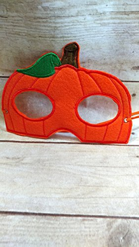 Kids Halloween Felt Pumpkin Mask - handmade