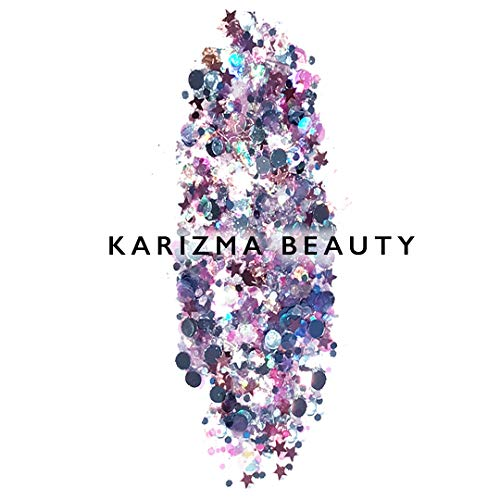 Unicorn Chunky Glitter, KARIZMA BEAUTY Festival Glitter Cosmetic Face Body Hair Nail