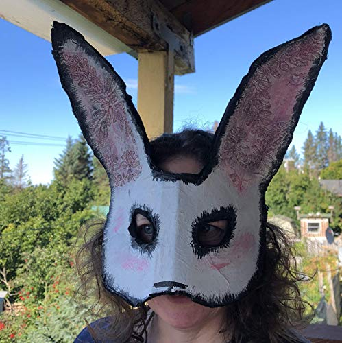 Scary Halloween Rabbit Mask Adult Killer Bunny - Homemade