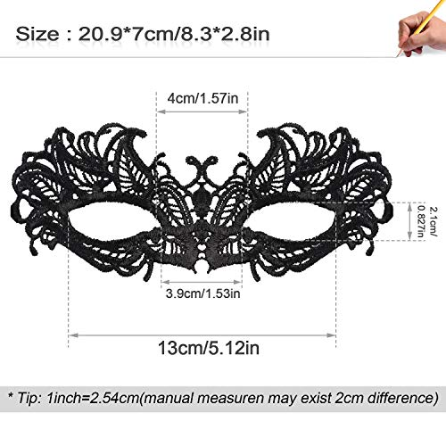 Lace Masquerade Mask Halloween Masks for Women Exquisite Venetian Women's Costume Masks for Masquerade Proms Hallowmas Party