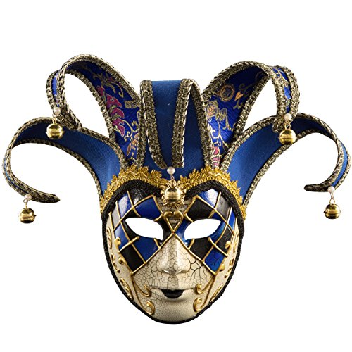 Venetian Masquerade Mask Women Costume Halloween Cosplay Mask Party Ball Prom Mardi Gras Wedding Blue