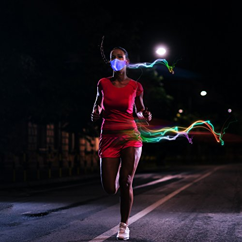SAFEBAO LED Rave Mask 7 Colors Luminous Light for Men Women Face Mask Music Party Christmas Halloween Light Up Mask