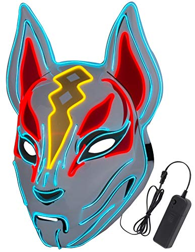 FORTNITE Diximus Unisex Fox Drift Mask LED Light up Mask