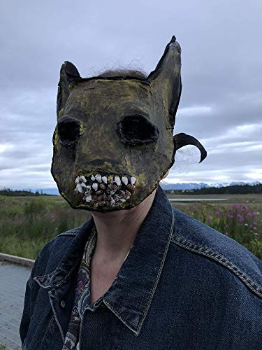 Creepy Scary Pikachu - Mens Monster Halloween Mask - Handmade Props