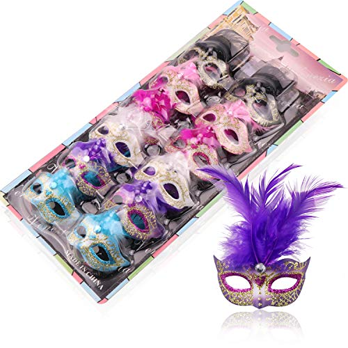Pack of Miniature Mini Masquerade Masks - perfect Masked Ball decorations
