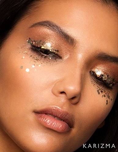 074c2c4698530 Rose Gold Chunky body Glitter, great Festival makeup, Face Body Hair Nails
