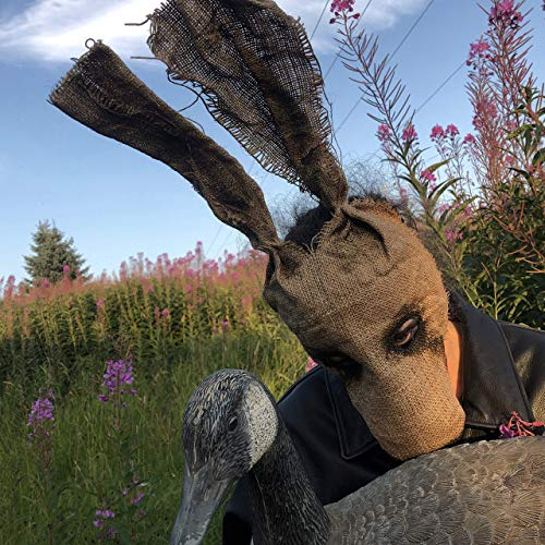 Creepy Rabbit Mask - Scary Animal Mask - Burlap Halloween Horror Prop - Zombie Bunny Mask - Party Animals Masks