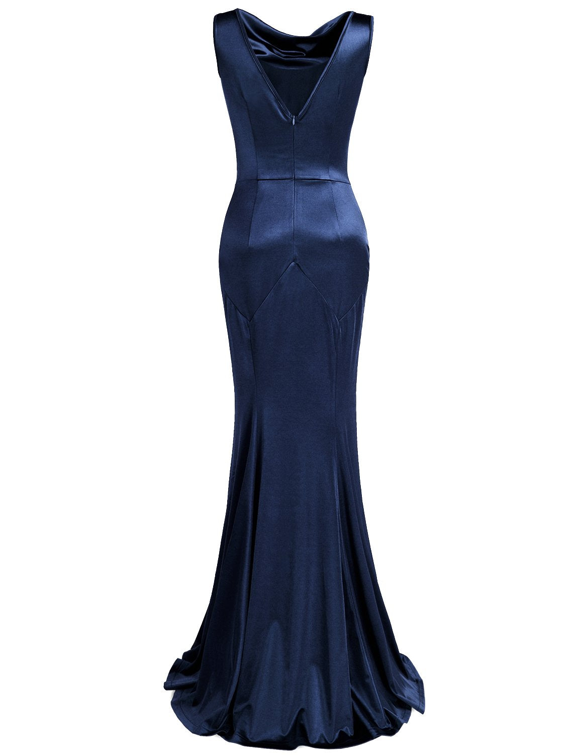 Masquerade Dress 1950s Retro Cowl Neck Bandage Masked Ball Gown Prom Dress