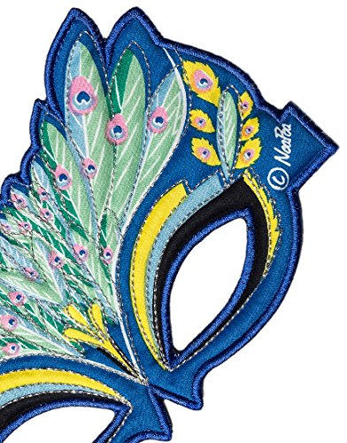 Childs Embroidered Peacock Mask for Costume Parties, Dress Up and Festivals- vibrant colours