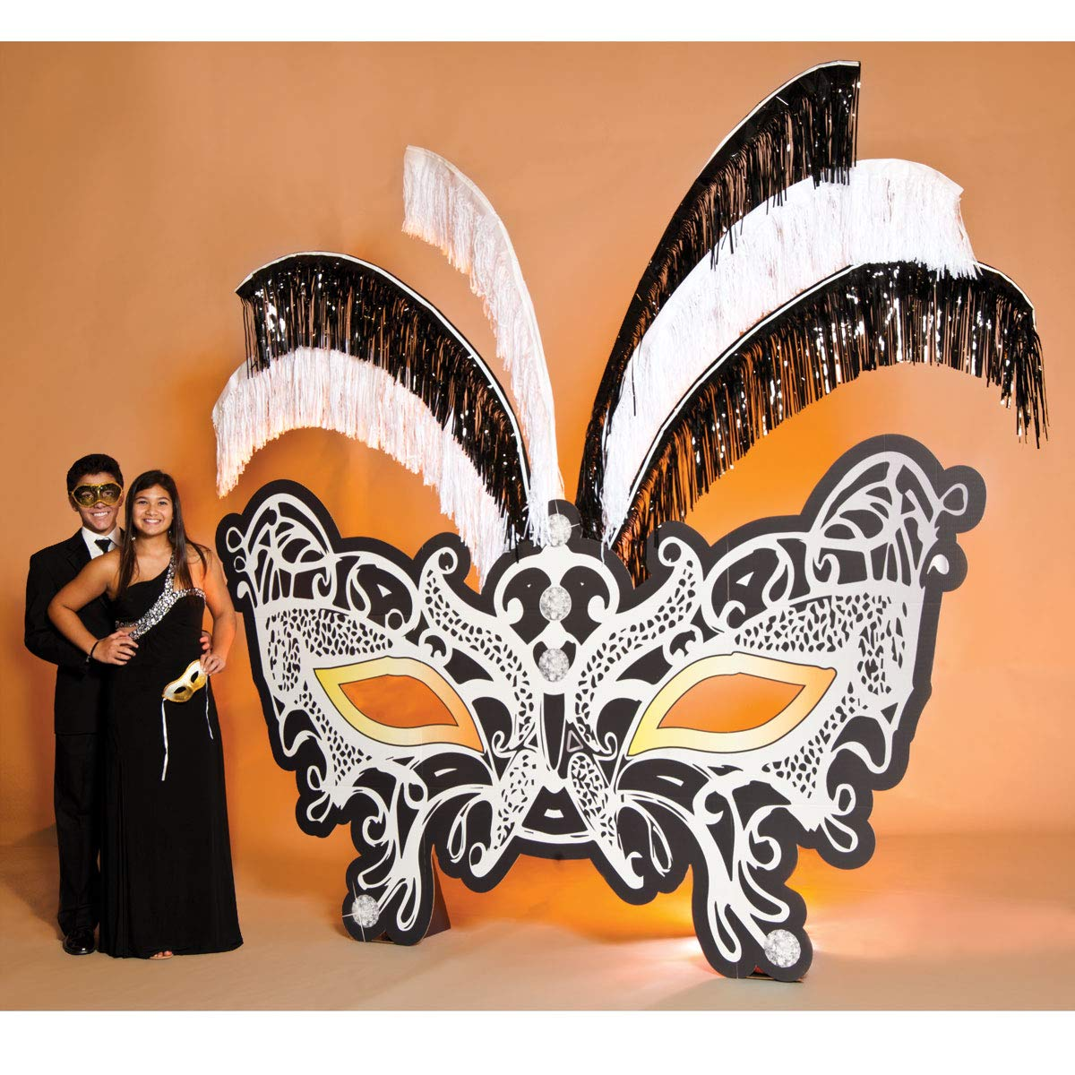 Masquerade Mask Prop Kit, Cardboard Mask Prom Decoration