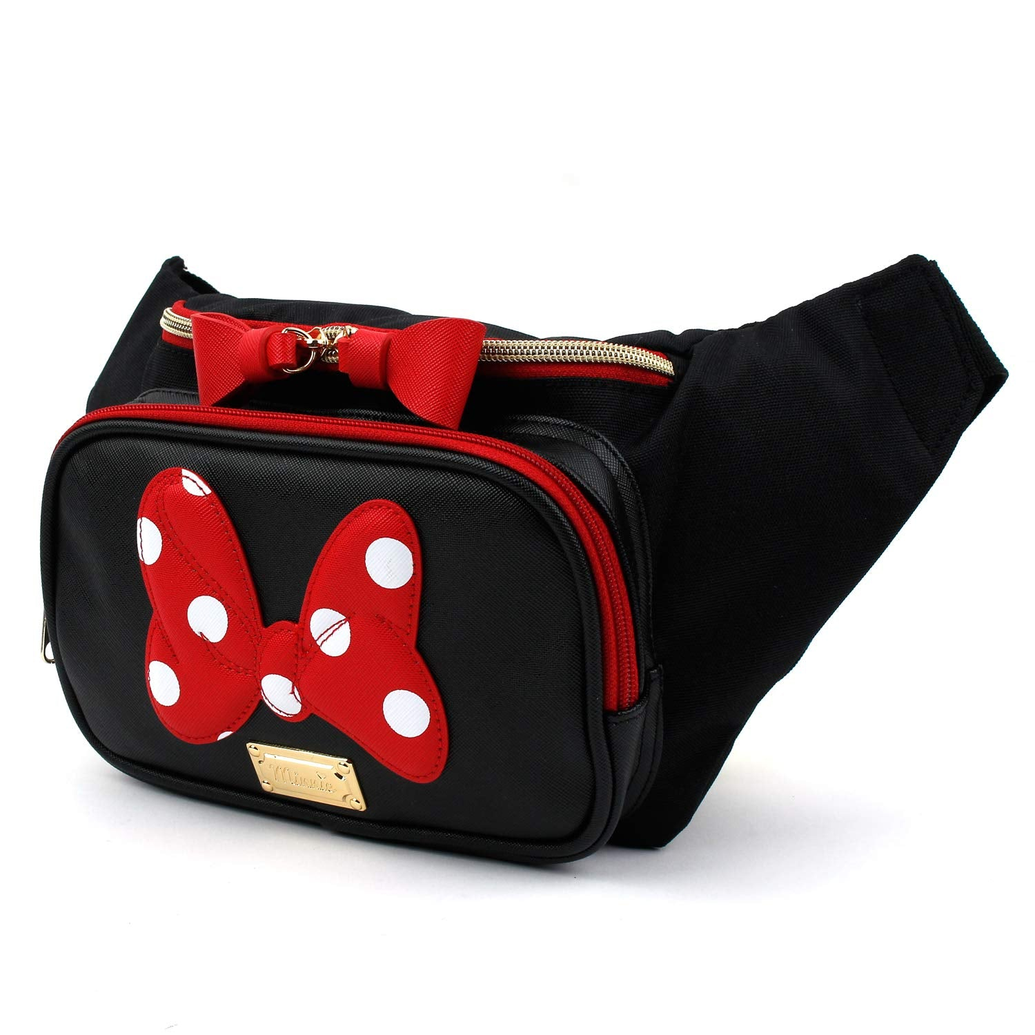Minnie Dots Ribbon Fanny Pack Sling Bag for Girls Ladies (Large)