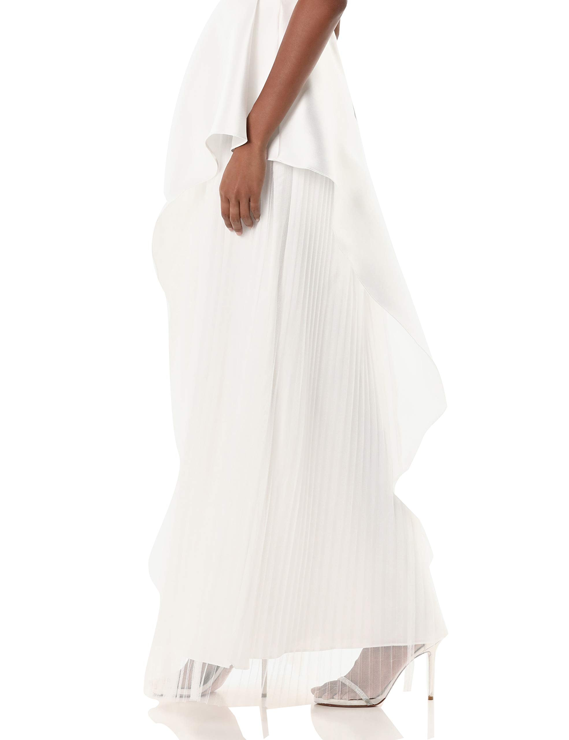 Adrianna Papell Women's Mikado Long Dress, Ivory, 2