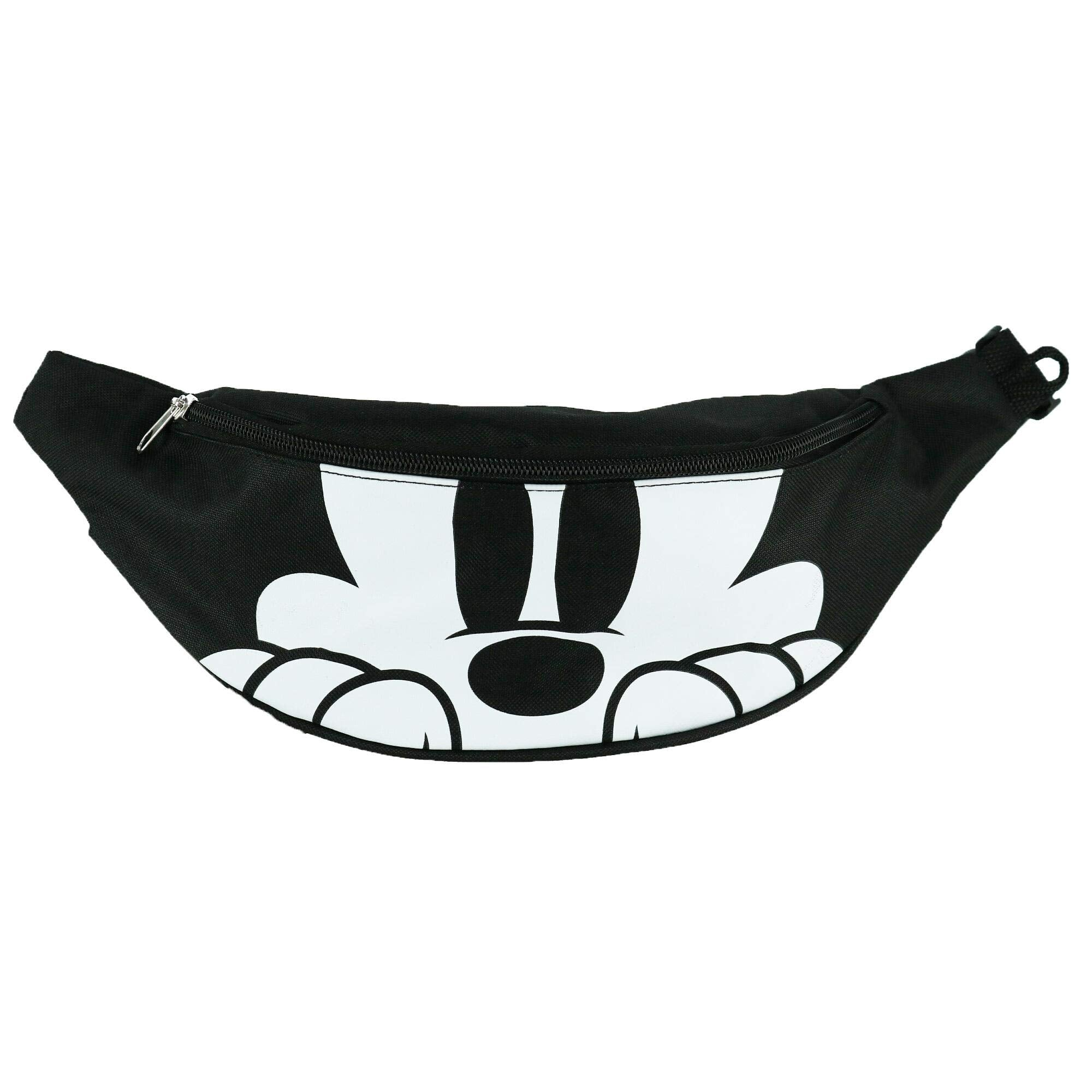 Disney Mickey Mouse Double Pocket Fanny Waist Pack, Black