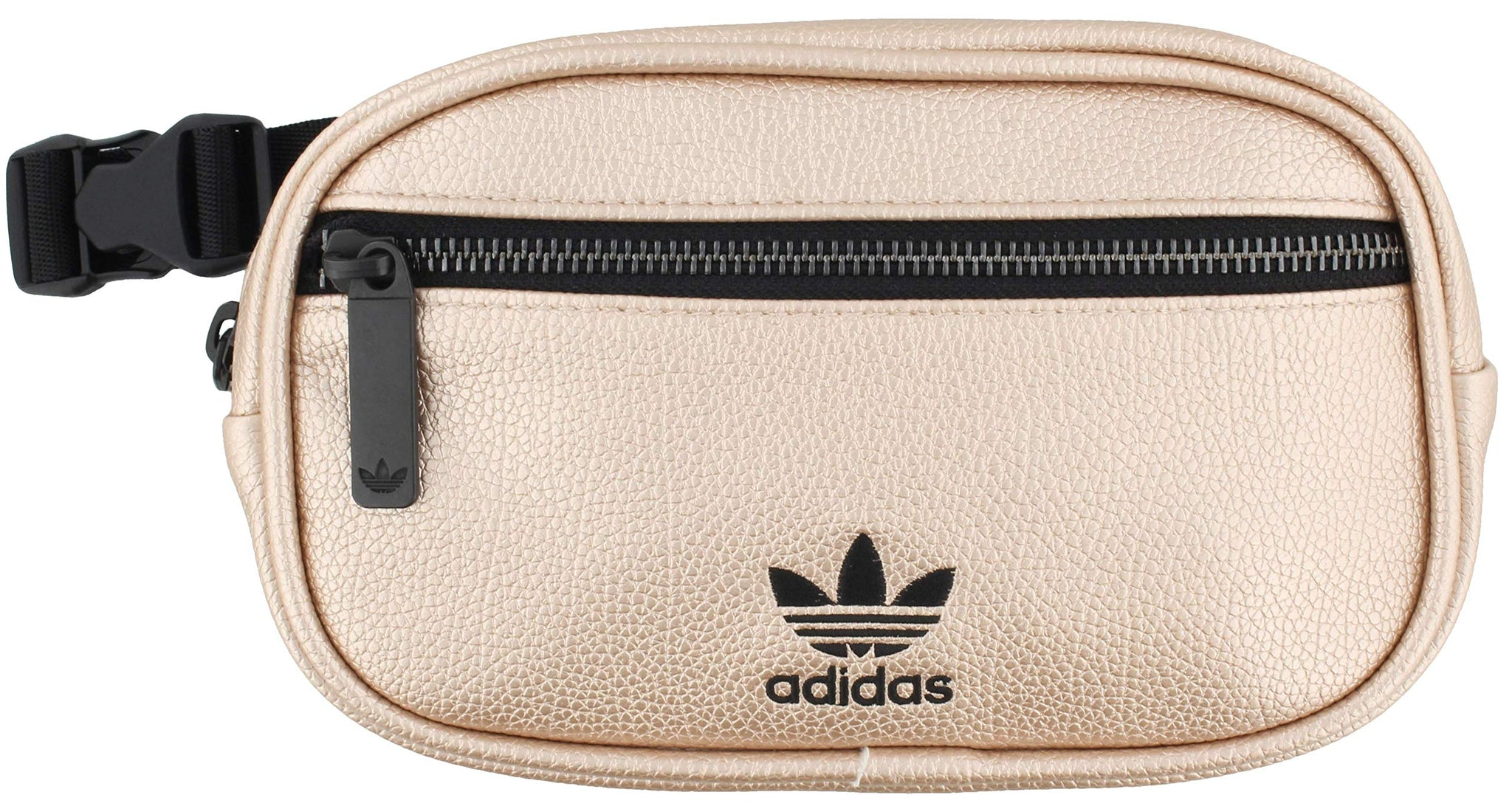adidas Originals Unisex PU Leather Waist Pack, Rose Gold/Black, ONE SIZE