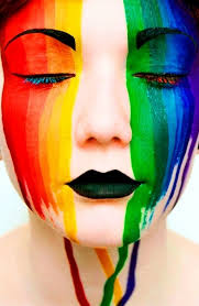 Rainbow Body Art Face Paint for festivals and parties- one Stroke rainbow burst Palette