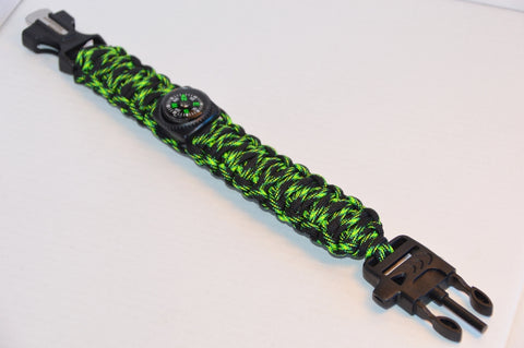 Backwoods Beast Basic Survival Wristband (Alien Lizard)