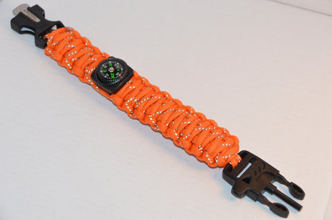 Backwoods Beast Basic Survival Wristband (Hunting Flare with reflective tape)