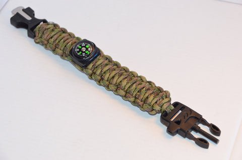 Backwoods Beast Basic Survival Wristband (Jungle Commando)
