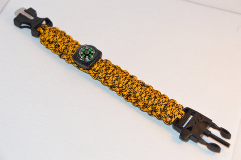 Backwoods Beast Basic Survival Wristband (Jungle Tiger)