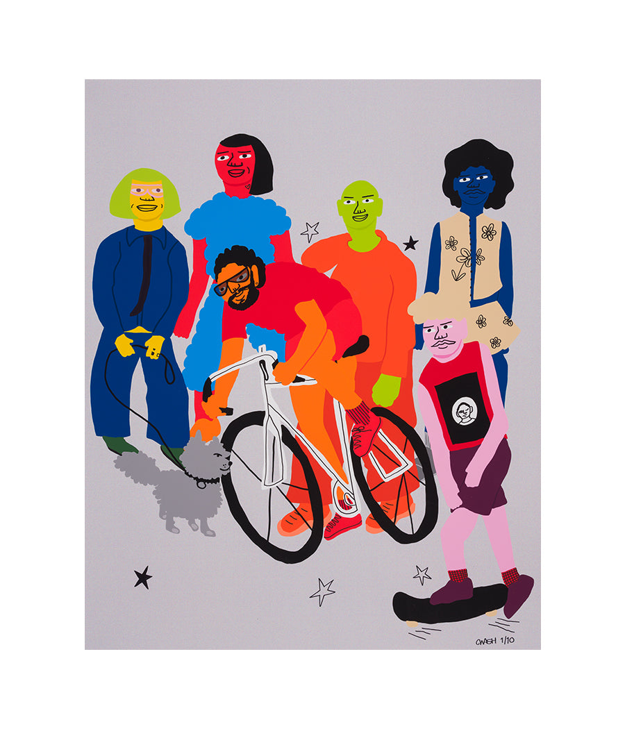 Tuesdays are for Exercise, 2020, Hand-Embellished Limited Edition Print #1