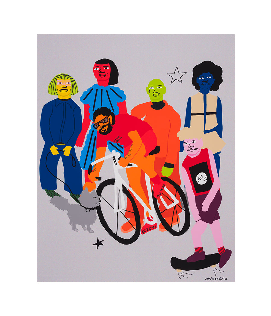 Tuesdays are for Exercise, 2020, Hand-Embellished Limited Edition Print #6