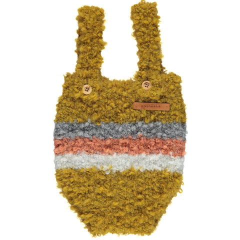 Piupiuchick Mustard Multi colored knitted baby Shorties with Straps