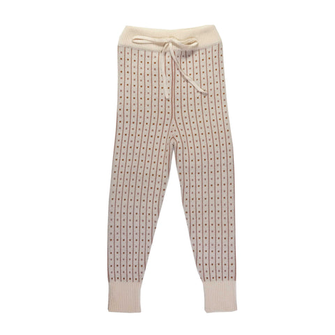 KNIT Mauve Small Printed Leggings