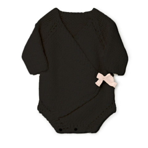 Little Creative Factory Slate Baby Chunky Knit Onesie