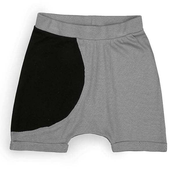Grey/ Black Side Circle Shorts