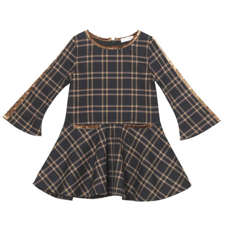 Brown Window Plaid Madonna Dress