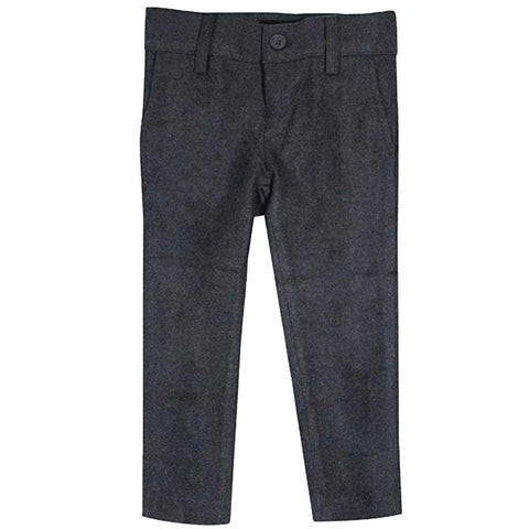 Medium Grey Wool Look Slim Fit Pants
