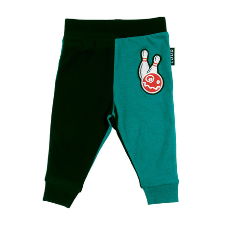 LOUD Apparel Black/ Green 2 Tone Baby Leggings
