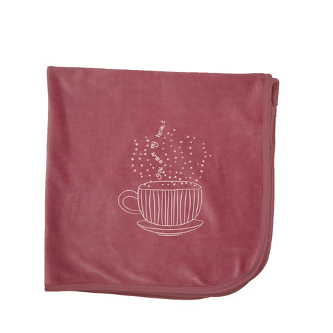 Rose Hug In A Mug Velour Blanket