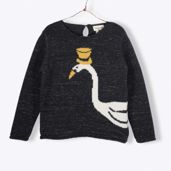 Anthracite Sparkle Swan Sweater