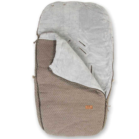 Taupe Knit Carriage Foot Muff