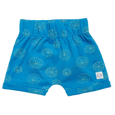 Blue Urchin Print Shorts