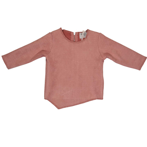 Blush Suede Top