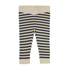 FUB Ecru/Dark Navy Baby Leggings