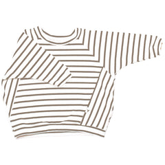 Booso Sand Striped Sweatshirt