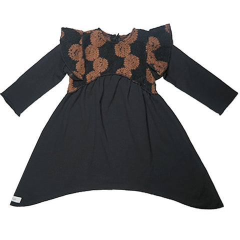 Gaya Lab Black/Brown Circle Design Vittoria Dress