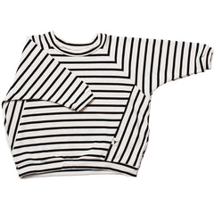 Booso Black Striped Sweatshirt