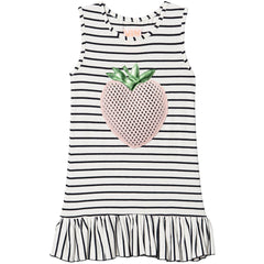 Wauw Capow by Bang Bang Copenhagen Black and White Striped Roberta Dress