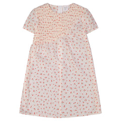 Jars Collection White Cherry Print Smocked Dress