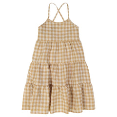 Jars Collection Gingham tiered Jumper
