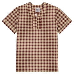 Jars Collection Gingham keyhole Shirt