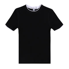 Little Parni Black Shadow Rib Girls SS T-Shirt